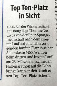 26.02.192. Lauf Winterlaufserie Duisburg Gorczyca